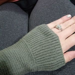 Madewell Olive Green Purl knit sweater
